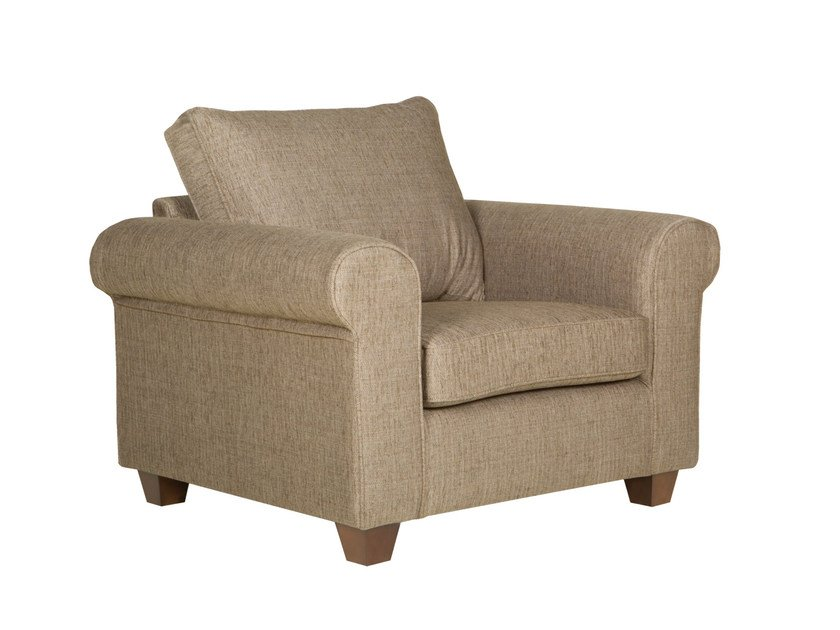 Upholstered fabric armchair with armrests ROMANTIC | Armchair - SITS