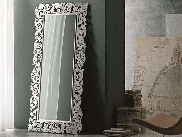 Rectangular wall-mounted framed mirror ROMANTICO | Rectangular mirror - RIFLESSI