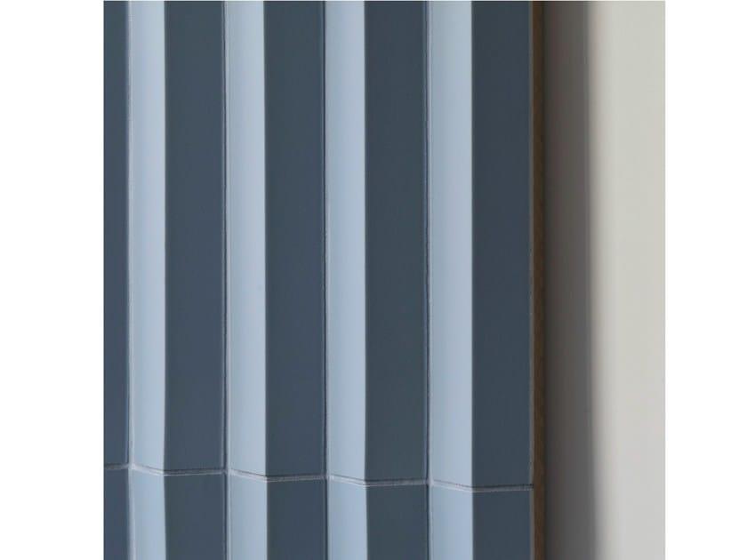 Porcelain stoneware 3D Wall Cladding ROMBINI TRIANGLE BLU - MUTINA