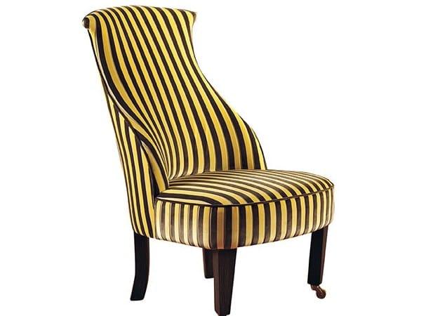 High-back fabric armchair ROMEA by SOFTHOUSE