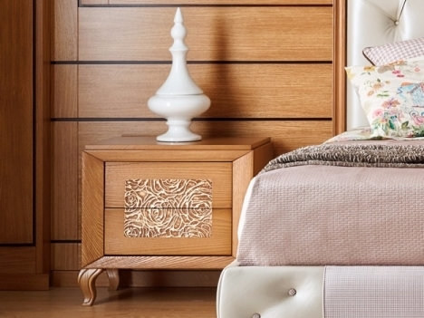 Wooden bedside table with drawers GIULIETTA E ROMEO | Bedside table by Arvestyle