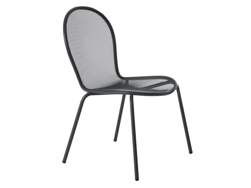 Stackable steel garden chair RONDA | Chair by emu