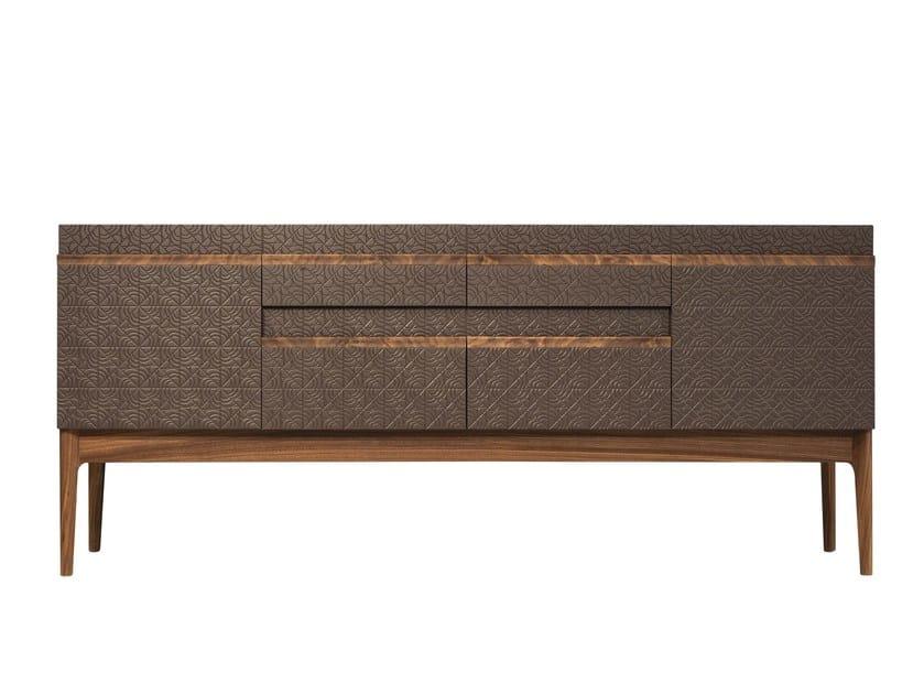 Lacquered wood veneer sideboard ROSA | Sideboard by Mobi