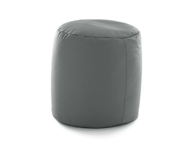 Upholstered pouf ROUND by Bolzan Letti