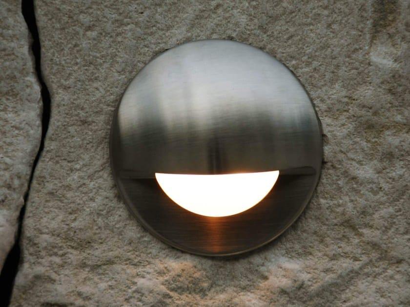 LED wall-mounted outdoor aluminium steplight SMILE | Wall-mounted steplight by Brillamenti
