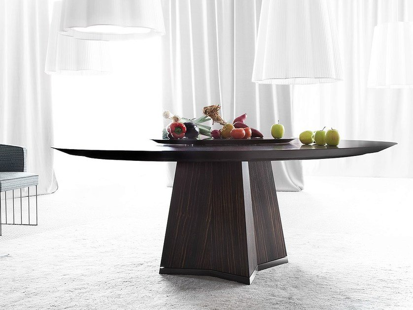 Round wooden table PENSAMI | Round table by ERBA ITALIA