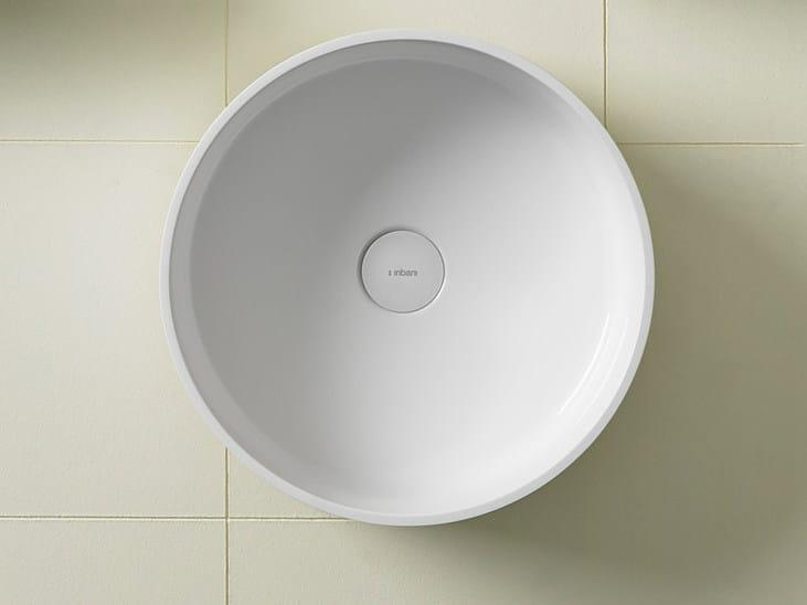 Round Ceramilux® washbasin GLAZE | Round washbasin - INBANI
