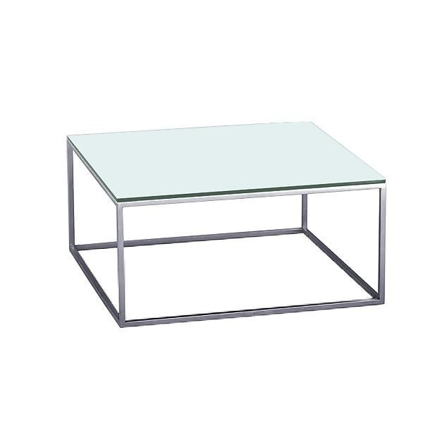 Glass and steel side table ROYAL - SMV Sitz- und Objektmöbel