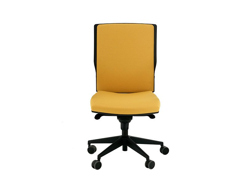 Swivel task chair with 5-Spoke base with casters ROYAL-T | Fabric task chair - delaOliva