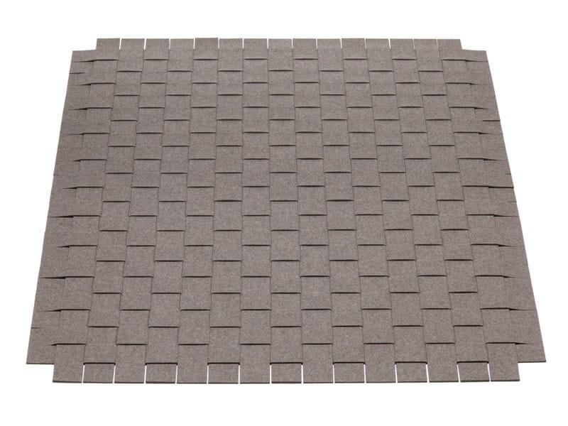 Solid-color square felt rug Felt rug - HEY-SIGN