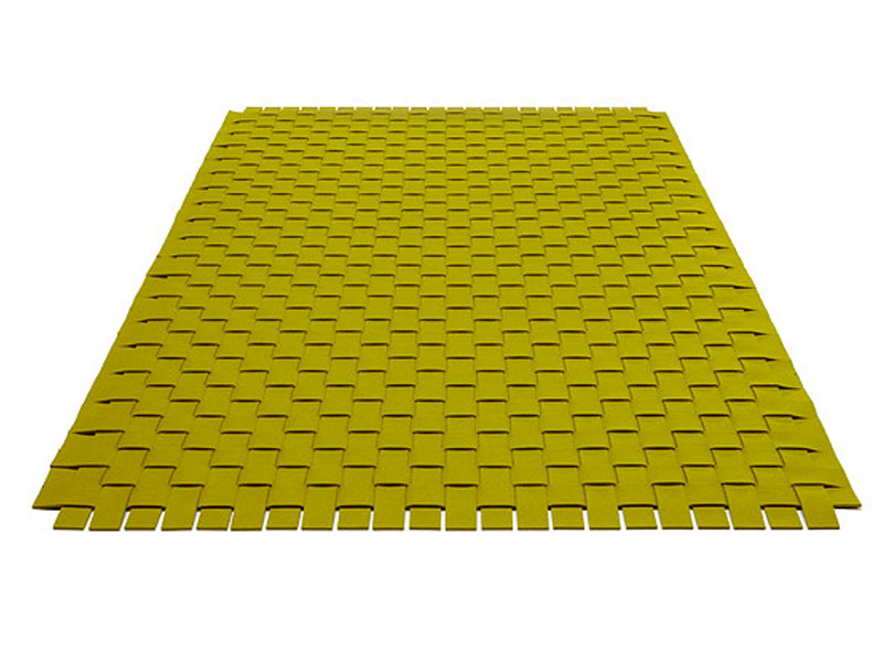 Solid-color rectangular felt rug RUG WOVEN - HEY-SIGN