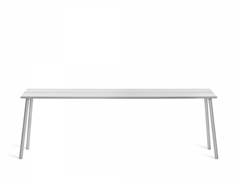 Rectangular aluminium contract table RUN | Contract table - Emeco