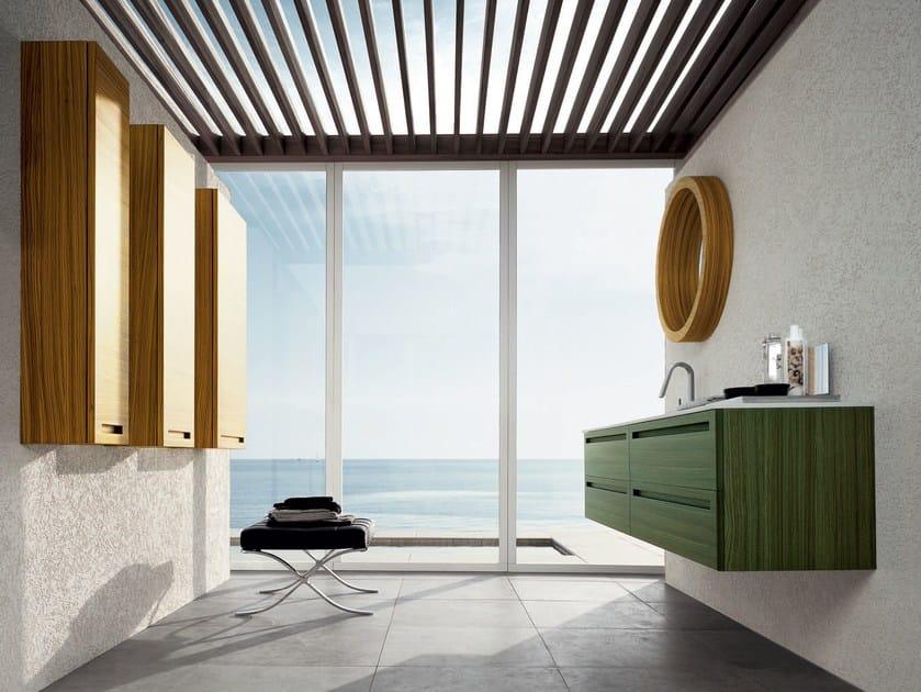 Zebrano bathroom cabinet / vanity unit RUSH - COMPOSITION 10 by Arcom