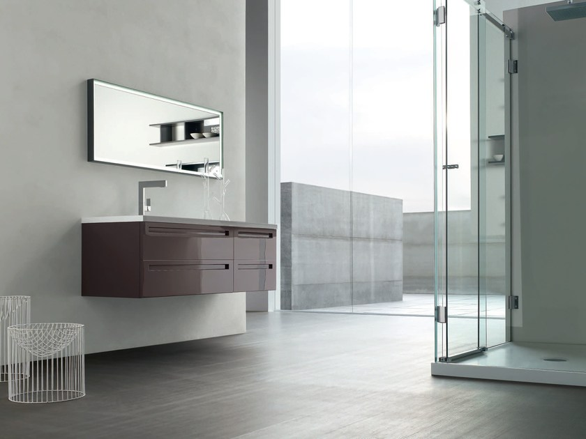 Lacquered single vanity unit RUSH - COMPOSITION 18 by Arcom