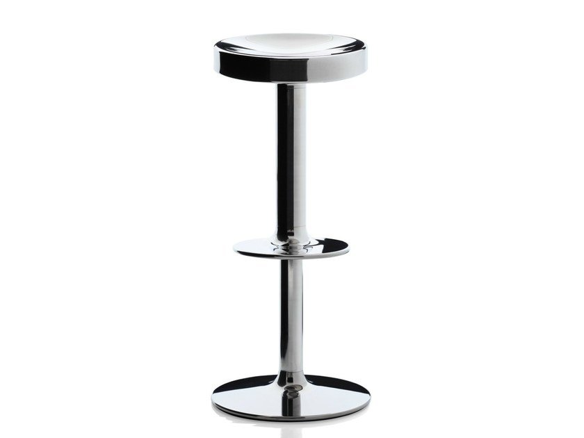 Swivel stool with gas lift S.S.S.S. SWEET STAINLESS STEEL STOOL - Magis