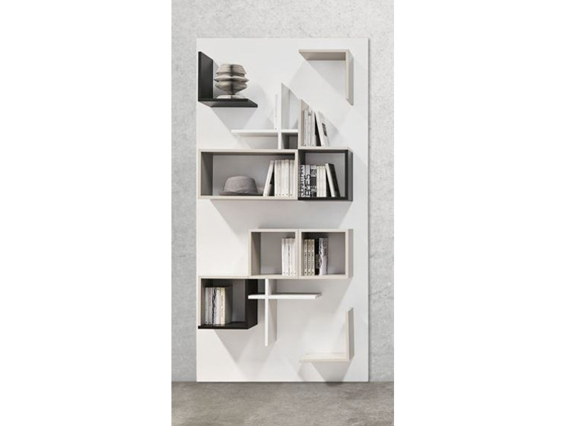 Sectional wall-mounted metal storage wall S01 - Ronda Design