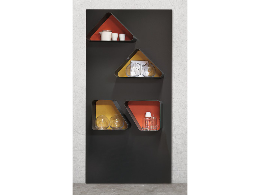 Sectional wall-mounted metal storage wall S03 - Ronda Design