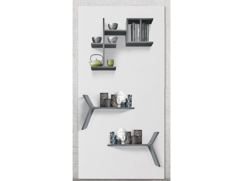 Sectional wall-mounted metal storage wall S04 - Ronda Design