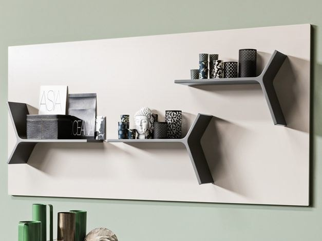 Sectional wall-mounted metal storage wall S08 | Sectional storage wall - Ronda Design
