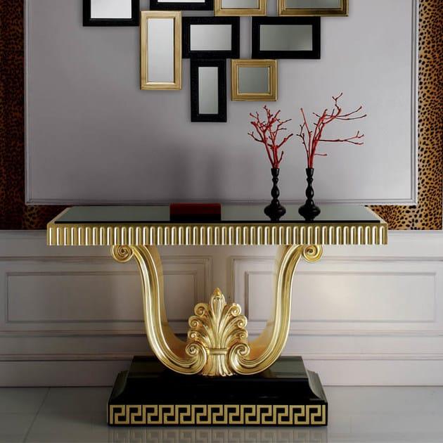 S100 consolle collezione paris by rozzoni mobili d 39 arte for Consolle nera laccata