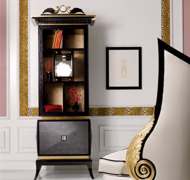 Lacquered wooden display cabinet S105 | Display cabinet - Rozzoni Mobili d'Arte
