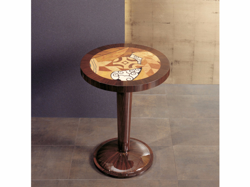 Round high side table for living room S52 | Coffee table - Rozzoni Mobili d'Arte