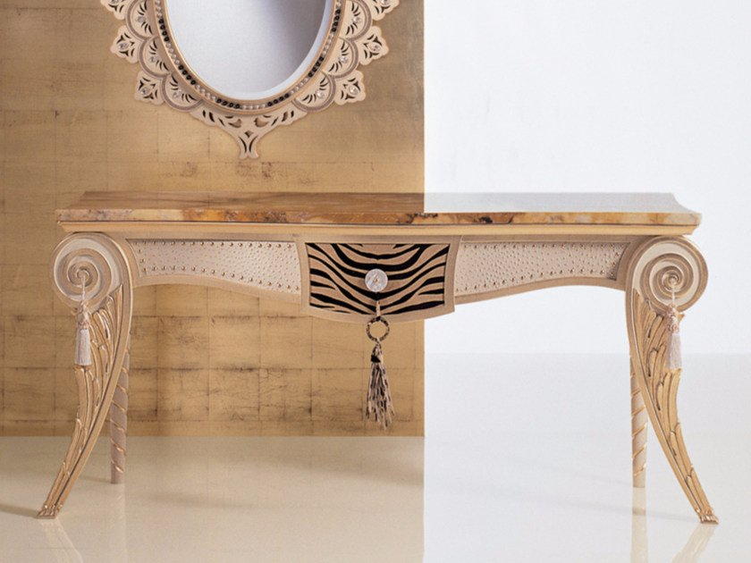 Rectangular marble console table S70 | Console table - Rozzoni Mobili d'Arte