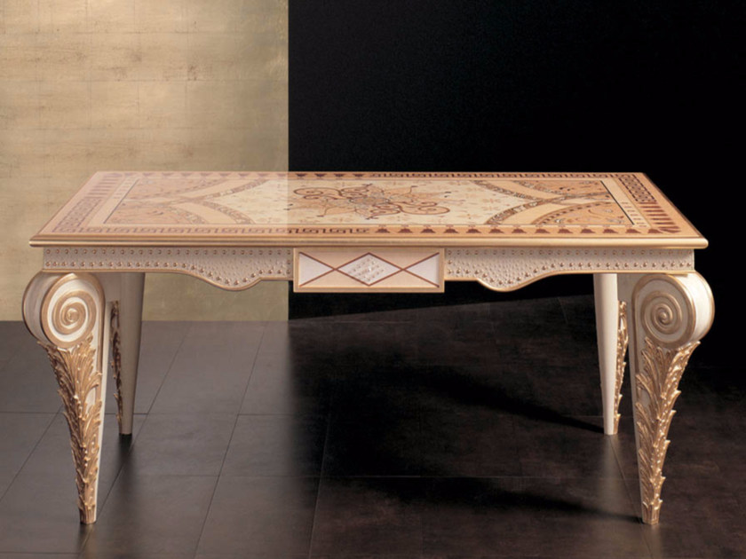 Lacquered rectangular living room table S77 | Table - Rozzoni Mobili d'Arte