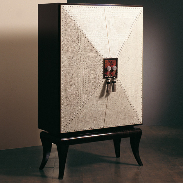 Leather highboard with doors S78 | Highboard - Rozzoni Mobili d'Arte