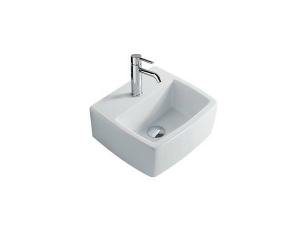 Rectangular wall-mounted ceramic washbasin SA.02 40 | Washbasin - GALASSIA