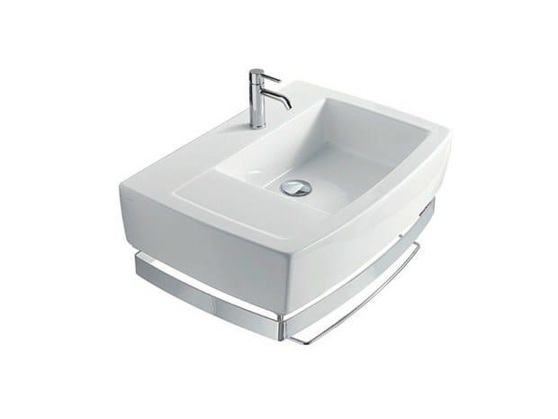 Rectangular ceramic washbasin with towel rail SA.02 70 SX | Washbasin - GALASSIA