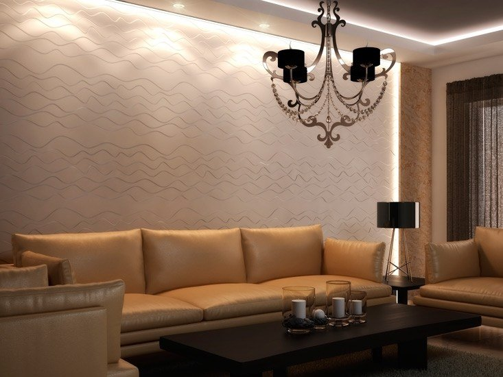 Indoor gypsum 3D Wall Panel SABBIA - Profilgessi
