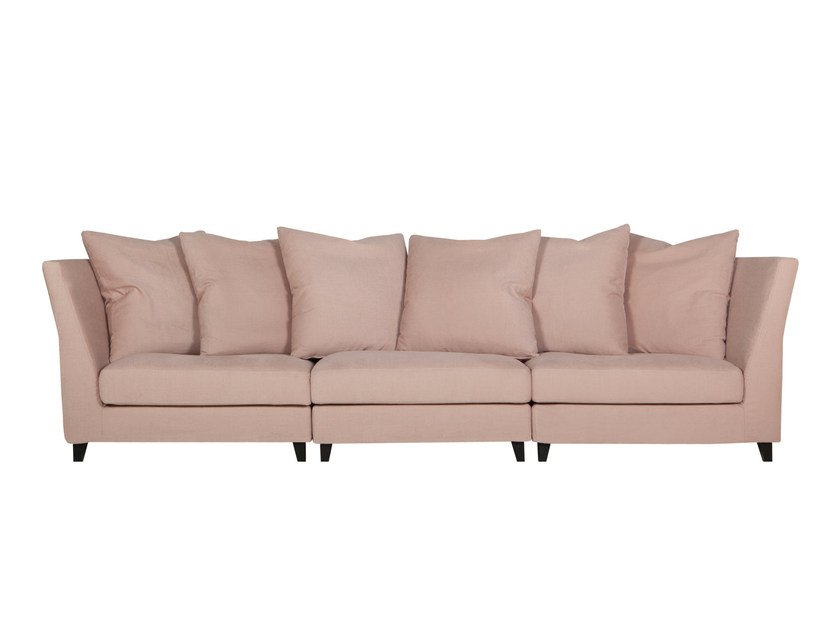 6 seater sectional upholstered fabric sofa SAGA by SITS