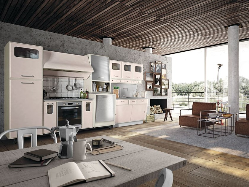 Fitted wood kitchen SAINT LOUIS - COMPOSITION 02 - Marchi Cucine