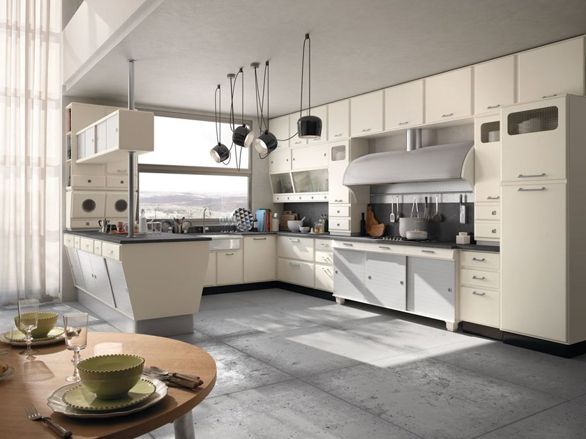 Fitted wood kitchen SAINT LOUIS - COMPOSITION 03 - Marchi Cucine