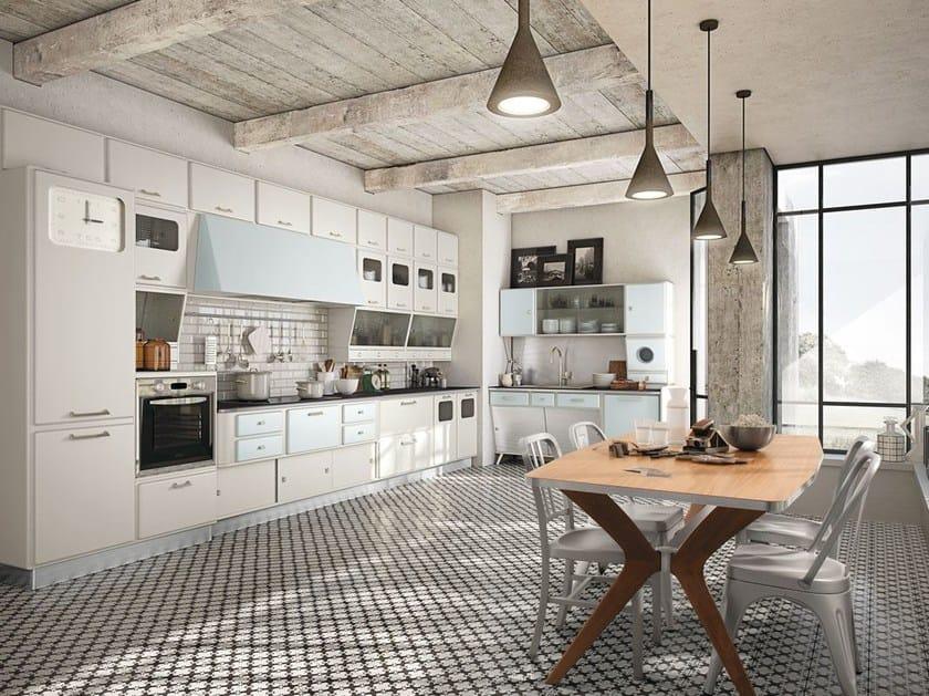 Cucina componibile laccata SAINT LOUIS - COMPOSIZIONE 04 - Marchi Cucine