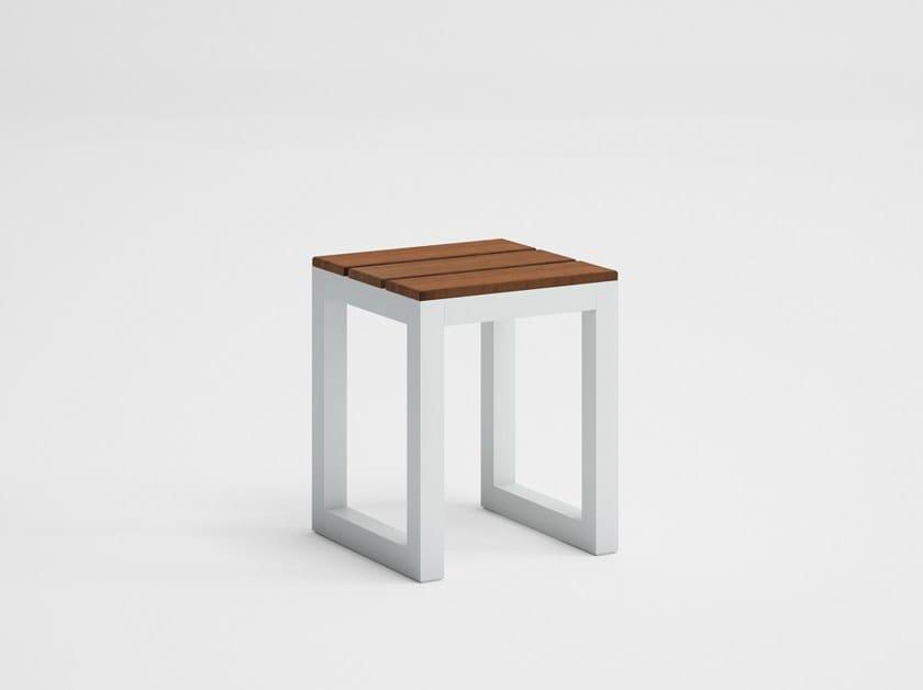 Teak garden stool SALER SOFT TEAK | Garden stool by GANDIA BLASCO
