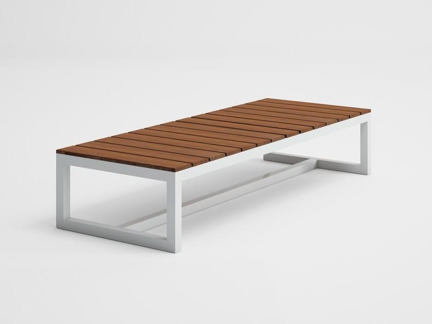 Rectangular teak garden side table SALER SOFT TEAK   Rectangular coffee table by GANDIA BLASCO