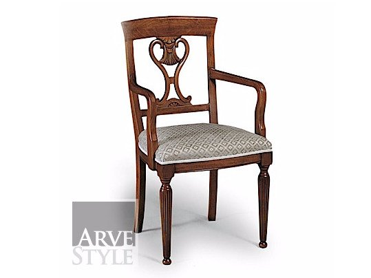 Upholstered open back chair SALIERI | Chair with armrests - Arvestyle