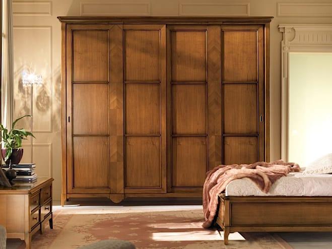 Solid wood wardrobe with sliding doors SALIERI | Wardrobe with sliding doors - Arvestyle