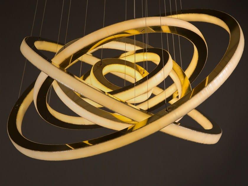 LED metal pendant lamp with dimmer SALO LUNAR - Cameron Design House