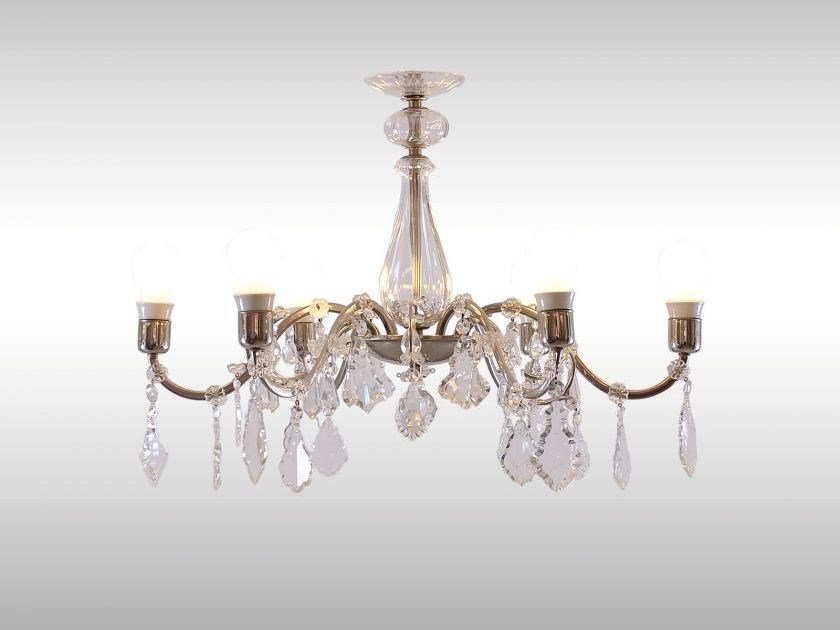 Classic style crystal chandelier SALONLUSTER 1950 by Woka Lamps Vienna