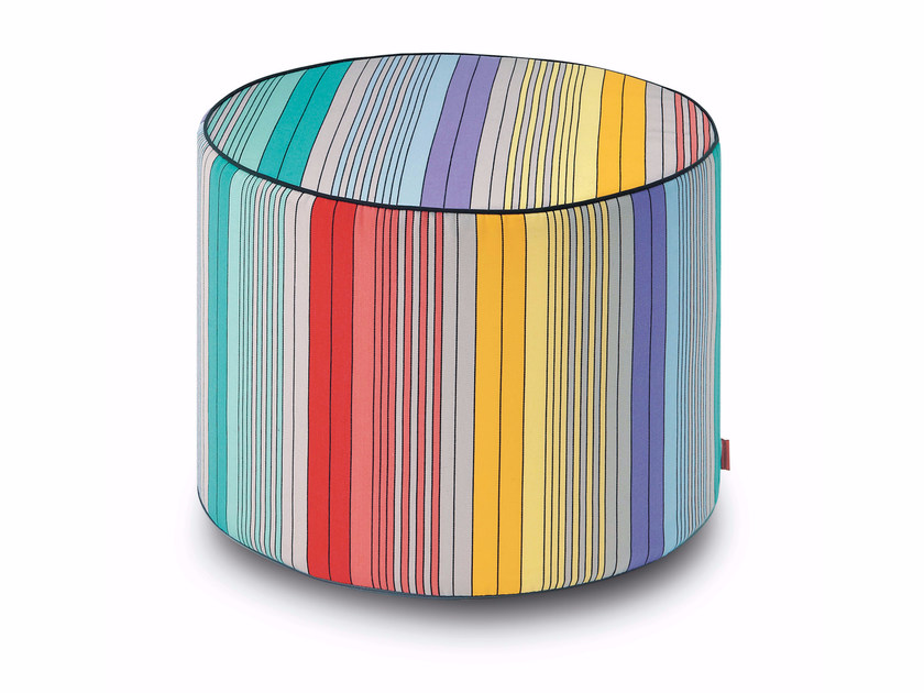 Fabric pouf with removable lining SAMANA' | Pouf - MissoniHome