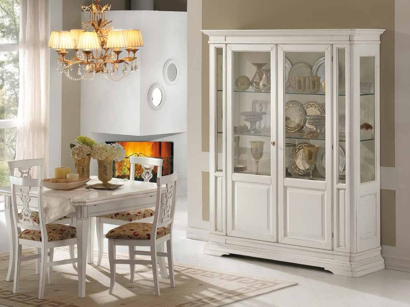 Solid wood display cabinet SAN MARCO | Lacquered display cabinet - Arvestyle
