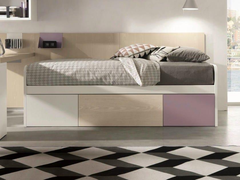 Trundle single bed SANDWICH LINE by Zalf