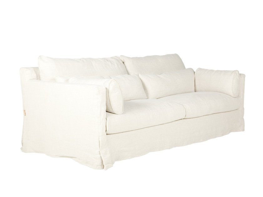 Upholstered 3 seater fabric sofa SARA | 3 seater sofa by SITS