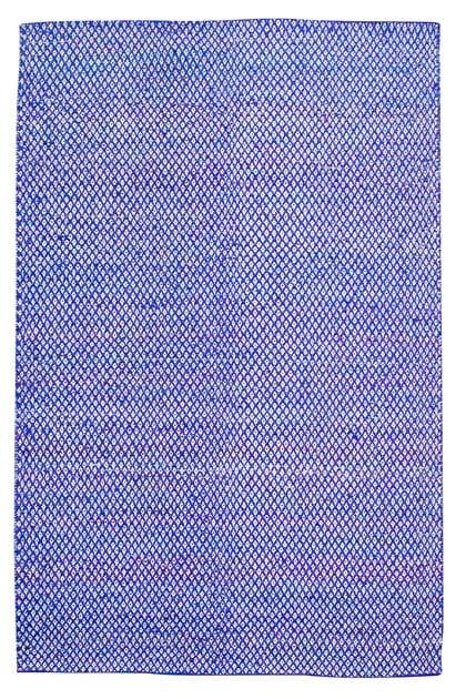 Handmade rectangular fabric rug SARI LOSANGE - ROCHE BOBOIS