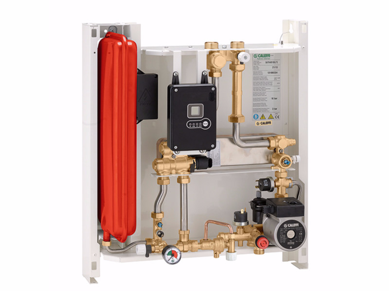 Compact wall-mounted indirect heat interface unit SATK401 - CALEFFI