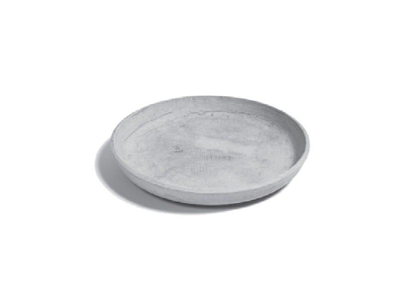 Cement flowerpot holder SAUCER ROUND - SWISSPEARL Italia