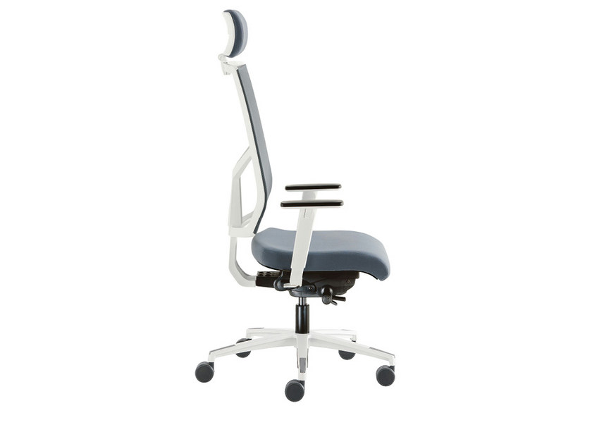 Swivel mesh task chair SAX RETE WHITE | Swivel task chair - Sesta
